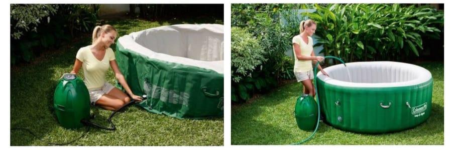 COLMAN hot tub LAY Z SPA TWIN