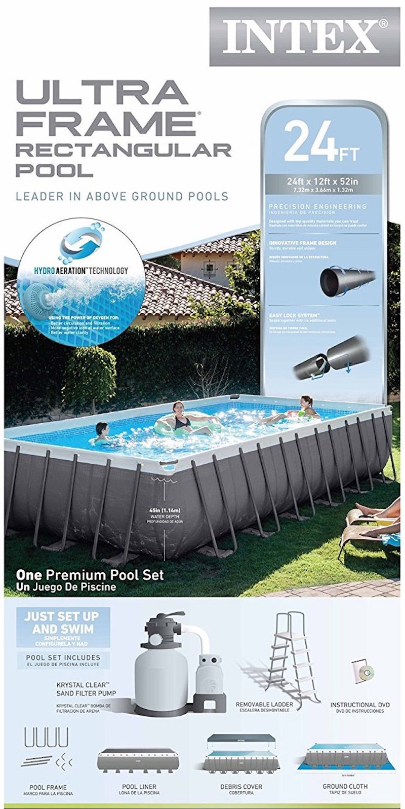 Dorable intex ultra frame pools images picture frame for Buying an above ground pool guide