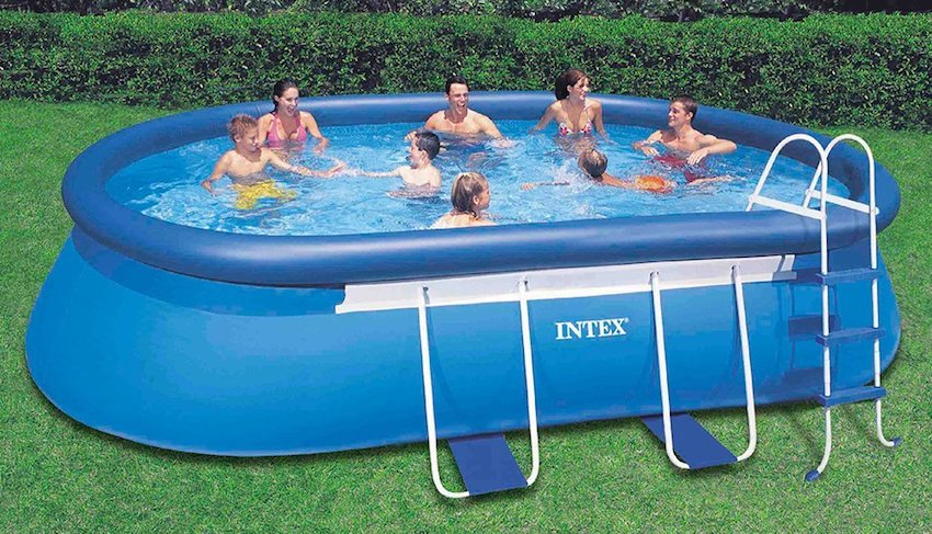 2 Intex Oval Frame Best Above Ground Pool