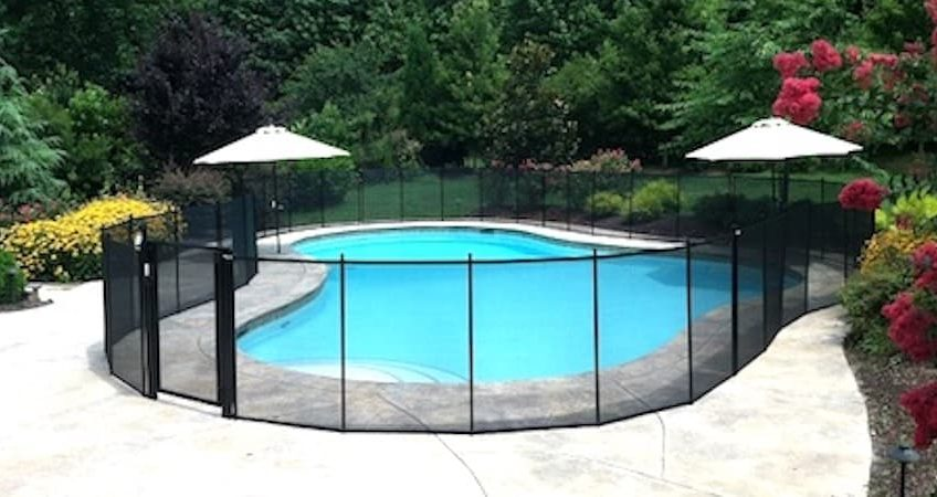 4 X 12 Feet Swimming Pool Mesh Safety Fence Barrier In Ground Fencing Brown New