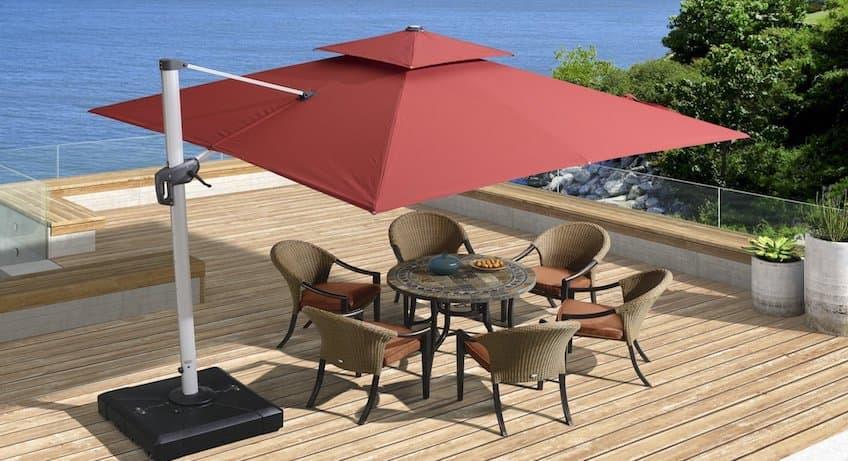 Best Cantilever Umbrella Reviews Top, Large Tilting Patio Umbrella